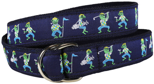 Golfing Frogs  D-Ring Belt