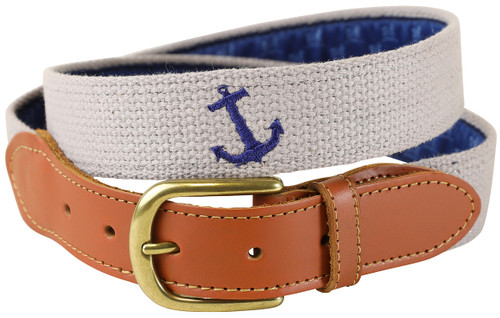 Embroidered Anchor Belt
