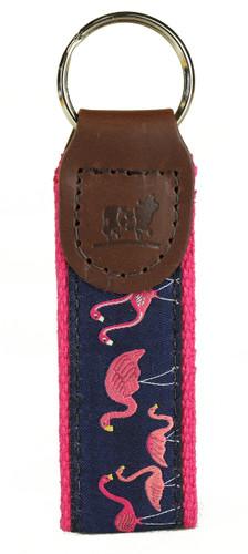 Pink Flamingos Key Fob