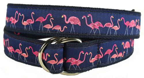 Yard Flamingos D-ring Belt