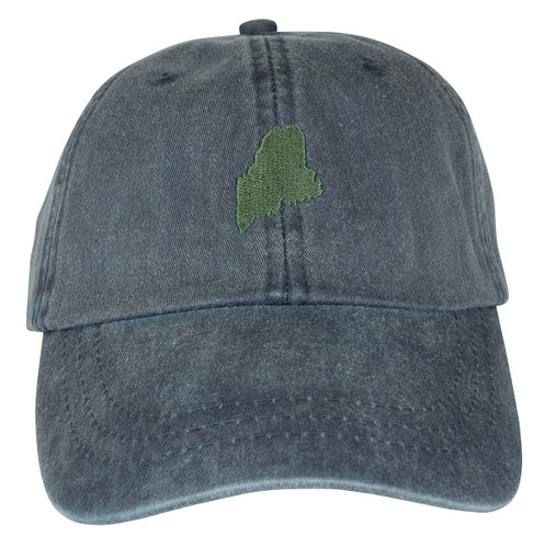 State of Maine Hat on Washed Navy