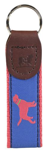 Labrador Retriever (blue) Key Fob