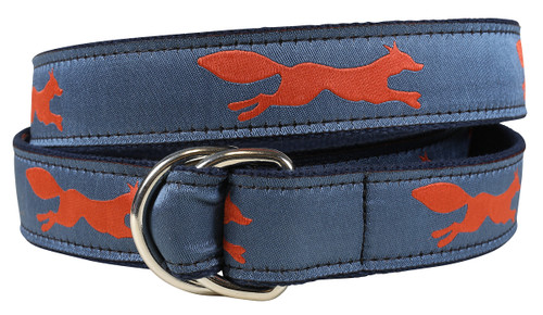 Feeling Foxy (steel blue) D-ring Belt