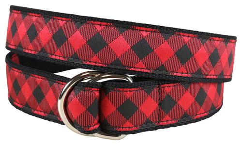 Buffalo Plaid D-ring Belt