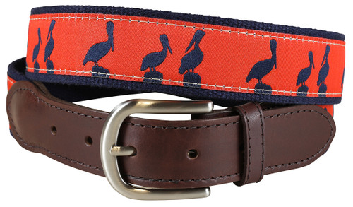 Pelican Sunset Leather Tab Belt