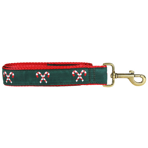 """Candy Canes 1.25"""" Dog Lead"""