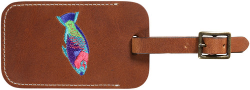 Down East Luggage Tag (Parrot Fish on Cognac)
