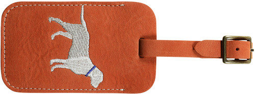 Down East Luggage Tag (Dog on Persimmon Nubuck)