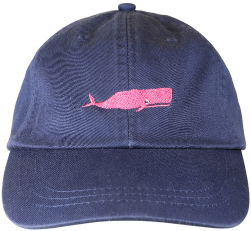 Whale Hat on Navy