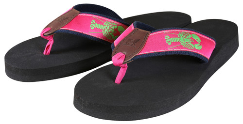 Lobster (raspberry) Flip Flops
