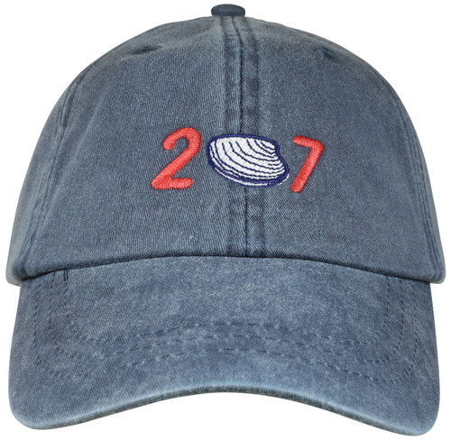 207 Clam Hat on Washed Navy
