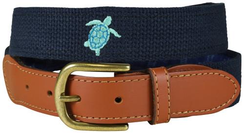 Bermuda Belt - Embroidered Sea Turtle