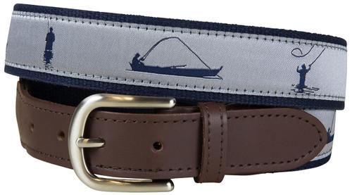 Fisherman Leather Tab Belt