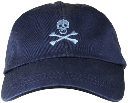 Skull & Bones Hat on Navy