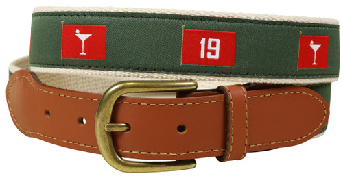 19th Hole Leather Tab Belt