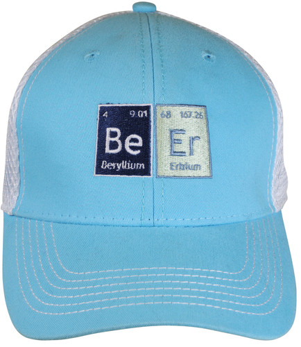 Beer Chemistry Trucker Hat on Sky Blue