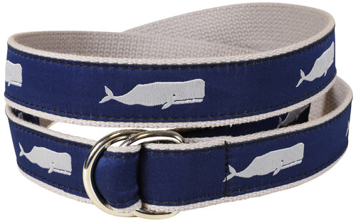 Moby Whale (Grey) D-Ring Belt
