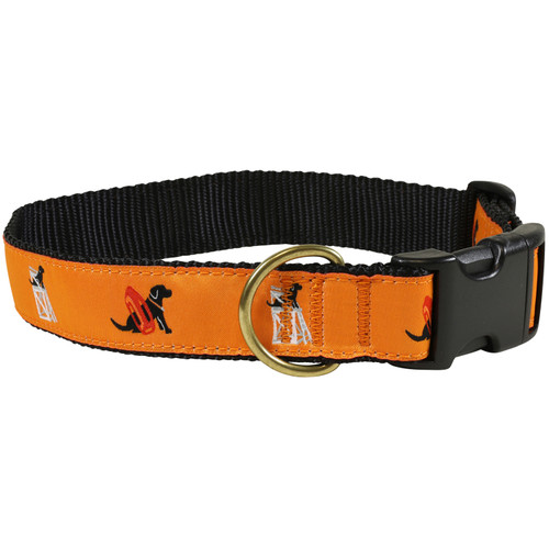 "Guard Dog (orange) 1.25"" Dog Collar"