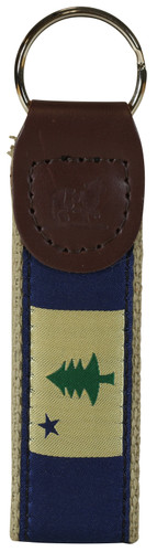 State of Maine Flag Key Fob