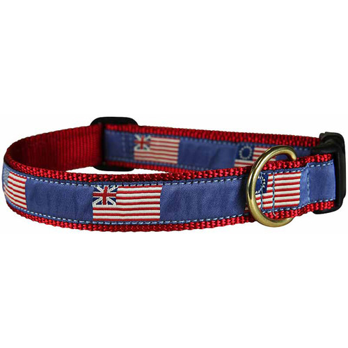 "Historical American Flag 1"" Dog Collar"