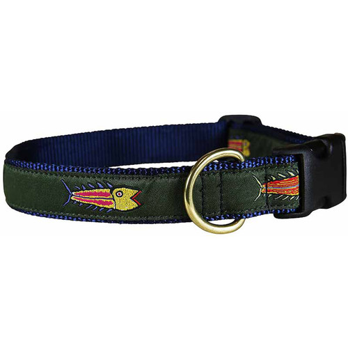 "Olive Hopkins Fish 1"" Dog Collar"