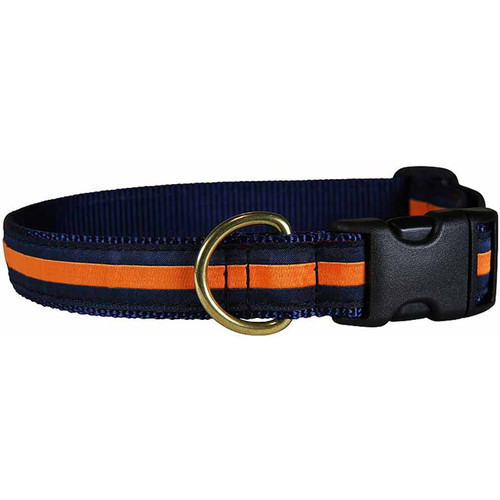 "Orange Stripe 1"" Dog Collar"