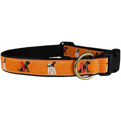"Orange Guard Dog 1"" Dog Collar"