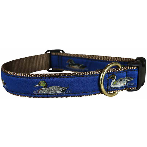 "Blue Ducks 1"" Dog Collar"