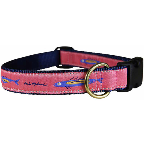 "Hopkins Coral Fish 1"" Dog Collar"