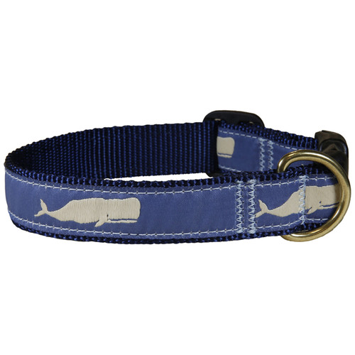 "Blue Moby Whale 1"" Dog Collar"