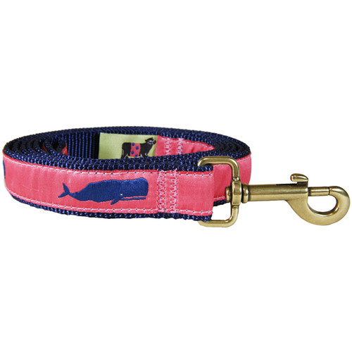 Moby Whale (coral) Dog Leash