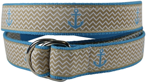 Ahoy Anchor D-Ring Belt - Tan