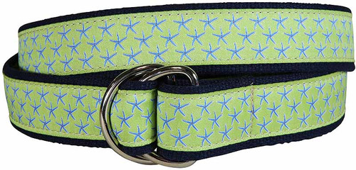 Starfish D-Ring Belt -Key Lime