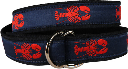 Lobster D-Ring Belt - Navy