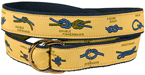 Nautical Knots D-Ring Belt - Yellow