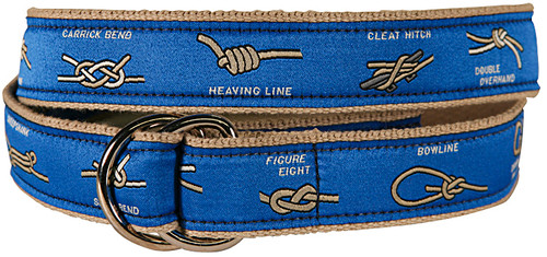 Nautical Knots D-Ring Belt - Blue