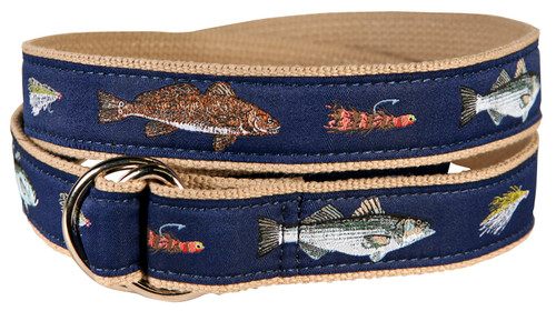 Saltwater Fish & Flies D-Ring Belt
