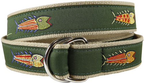 Hopkins Fish D-Ring Belt - Olive