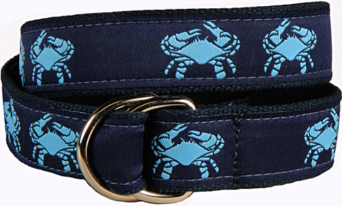 Crab  D-Ring Belt - Blue & Navy