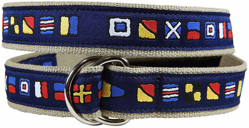 It's 5 O'Clock Somewhere D-Ring Belt - Navy