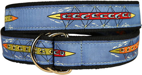 Rowing Sweep D-Ring Belt - Blue