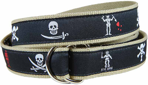 Pirate Flags D-Ring Belt - Midnight Black