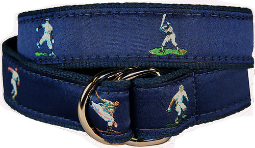 Vintage Baseball D-Ring Belt