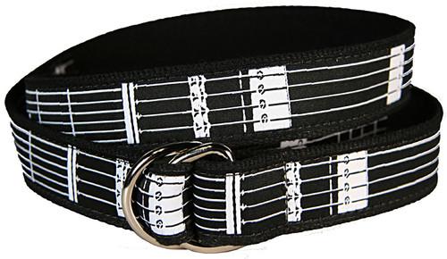 Guitar Frets D-Ring Belt