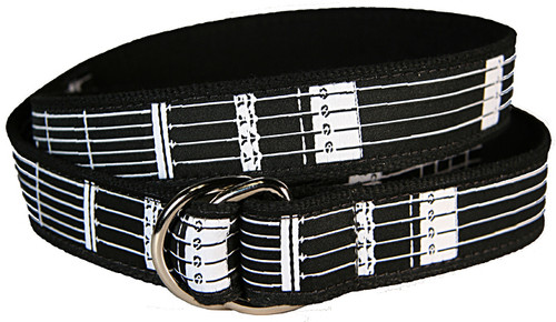 Guitar Frets D-Ring Belt