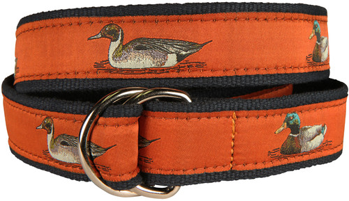 Ducks  D-Ring Belt - Burnt Sienna
