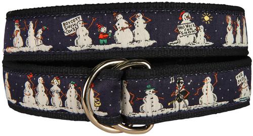 Naughty Snowmen D-Ring Belt