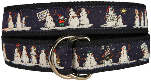 Naughty Snowmen D-Ring Belt