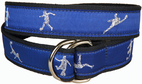 Soccer D-Ring Belt - Blue