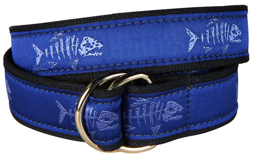 Rogue Fish D-Ring Belt - Ocean Blue